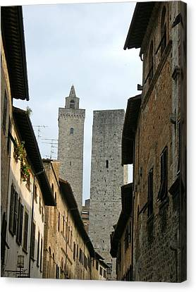 Canvas Print featuring the photograph San Gimignano Italy by Victoria Lakes