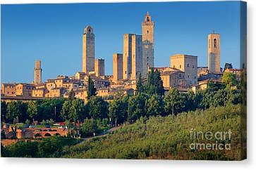 San Gimignano Skyline Canvas Print by Inge Johnsson