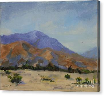 Mt. San Jacinto In Morning Light Canvas Print by Maria Hunt