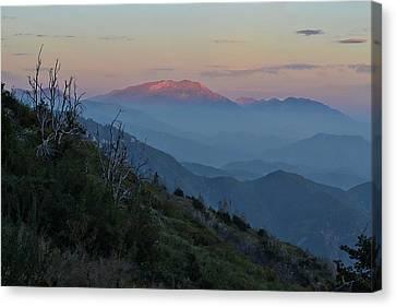 San Jacinto Sunset Canvas Print