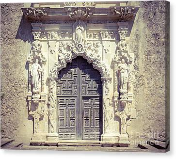 Panel Door Canvas Print - San Jose Doorway by Sonja Quintero