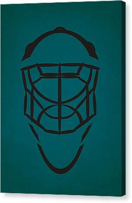 San Jose Sharks Goalie Mask Canvas Print by Joe Hamilton