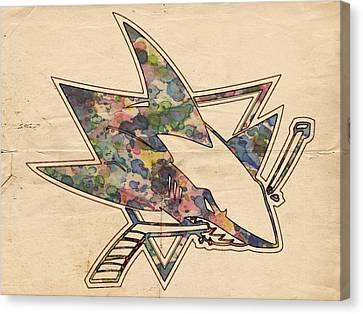 San Jose Sharks Hockey Poster Canvas Print