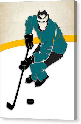 San Jose Sharks Rink Canvas Print by Joe Hamilton
