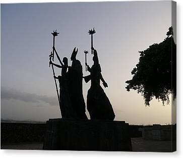 San Juan - La Rogativa Silhouette Canvas Print by Richard Reeve