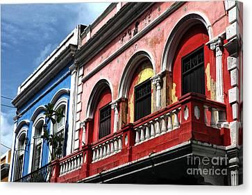 San Juan Balcony Canvas Print by John Rizzuto