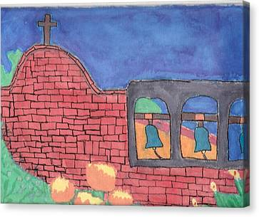 Canvas Print featuring the painting San Juan Capistrano by Artists With Autism Inc