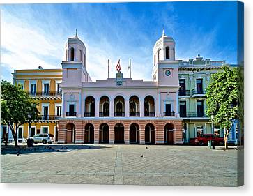 Canvas Print featuring the photograph San Juan City Hall by Ricardo J Ruiz de Porras