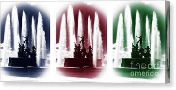 San Juan Fountain Colors Canvas Print by John Rizzuto