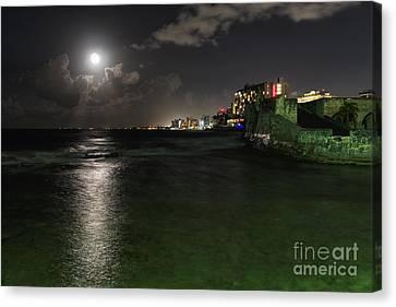 San Juan Full Moon Scenic Canvas Print by George Oze