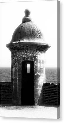 San Juan Guard Tower Canvas Print by John Rizzuto