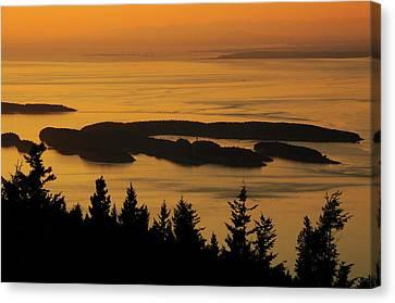 San Juan Islands From Mount Canvas Print by Michel Hersen