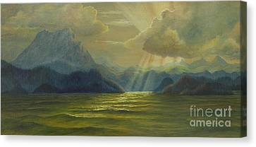 San Juan Islands Canvas Print by Jeanette French