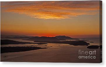 Northwest Canvas Print - San Juan Islands Peaceful Evening by Mike Reid