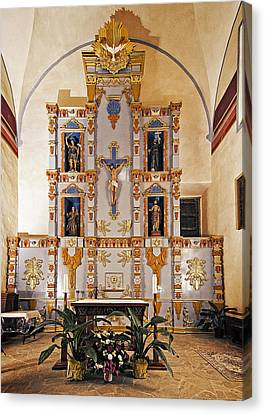 Canvas Print featuring the photograph San Juan Mission Altar by Andy Crawford