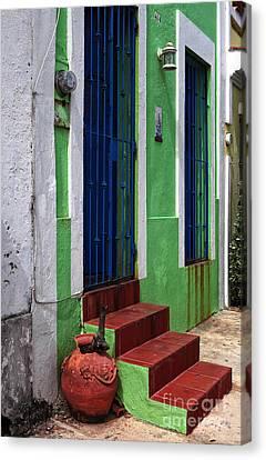 San Juan Red Stairs Canvas Print