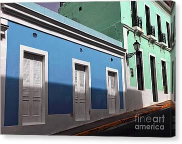 San Juan Street Colors Canvas Print by John Rizzuto