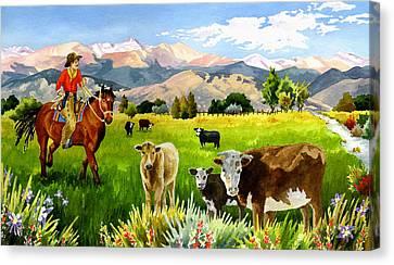 San Juan Valley Canvas Print by Anne Gifford