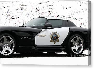 San Luis Obispo County Sheriff Viper Patrol Car Canvas Print