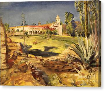 San Luis Rey Mission 1947 Canvas Print