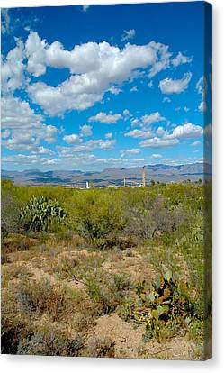 San Manuel Stacks Canvas Print by T C Brown