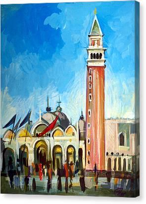 Italian Landscape Canvas Print - San Marco Square by Filip Mihail
