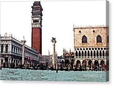 Pz San Marco Venice Canvas Print by Linda  Parker