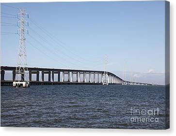 San Mateo Bridge In The California Bay Area 5d21889 Canvas Print by Wingsdomain Art and Photography