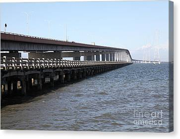 San Mateo Bridge In The California Bay Area 5d21892 Canvas Print by Wingsdomain Art and Photography