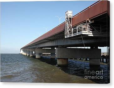 San Mateo Bridge In The California Bay Area 5d21900 Canvas Print by Wingsdomain Art and Photography