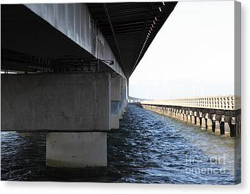 San Mateo Bridge In The California Bay Area 5d21908 Canvas Print by Wingsdomain Art and Photography