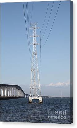 San Mateo Bridge In The California Bay Area 5d21909 Canvas Print by Wingsdomain Art and Photography