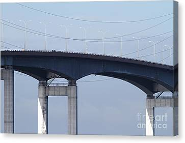 San Mateo Bridge In The California Bay Area 7d21910 Canvas Print by Wingsdomain Art and Photography