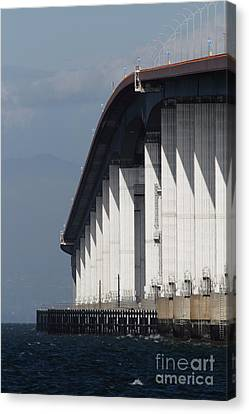 San Mateo Bridge In The California Bay Area 7d21935 Canvas Print by Wingsdomain Art and Photography