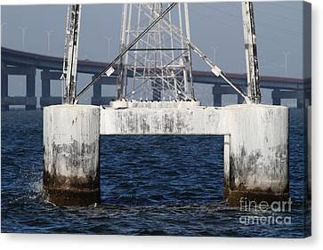 San Mateo Bridge In The California Bay Area 7d21943 Canvas Print by Wingsdomain Art and Photography