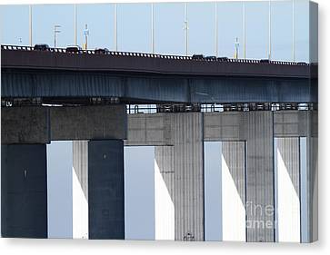 San Mateo Bridge In The California Bay Area 7d21947 Canvas Print by Wingsdomain Art and Photography