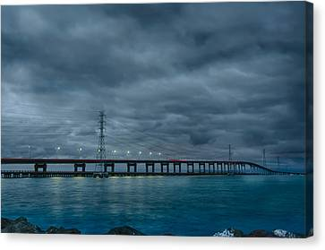 San Mateo Bridge Canvas Print by Mike Gifford