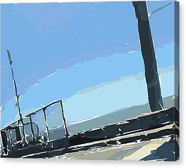San Mateo Bridge Canvas Print by Nolan Schoichet