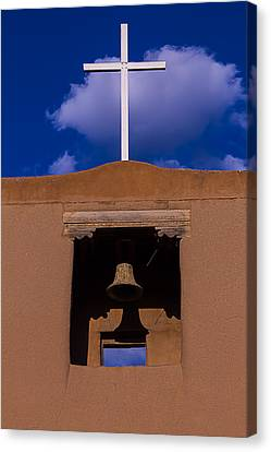 San Miguel Church Bell And Cross Canvas Print