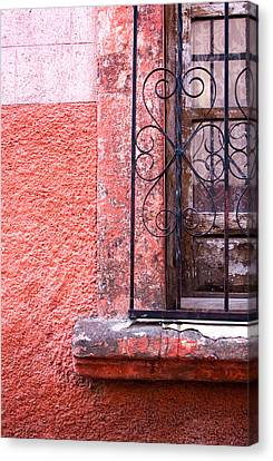 San Miguel Window2 Canvas Print by CJ Middendorf