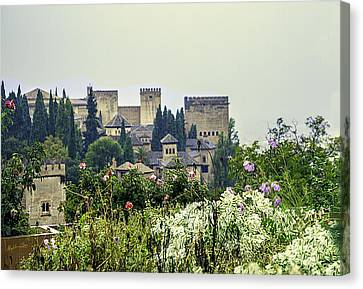 San Nicolas View Of The Alhambra - Spain Canvas Print by Madeline Ellis