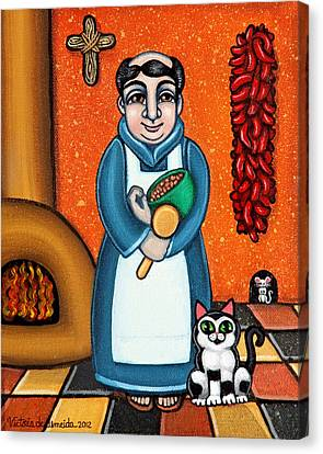 San Pascual And Felix Canvas Print by Victoria De Almeida