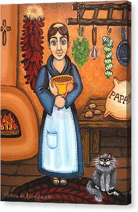 San Pascual Bad Kitty Canvas Print by Victoria De Almeida