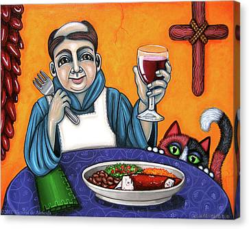 Cook Canvas Print - San Pascual Cheers by Victoria De Almeida