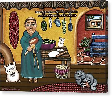 Saint Canvas Print - San Pascuals Kitchen by Victoria De Almeida