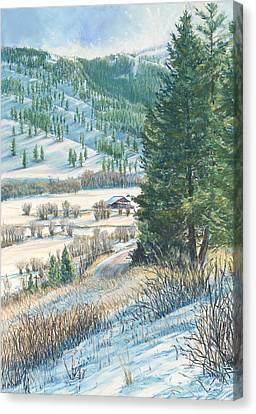 San Poil Valley  Canvas Print