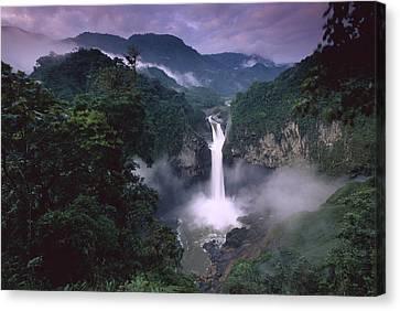 San Rafael Falls On The Quijos River Canvas Print