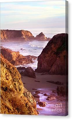 San Simeon Coastal View Canvas Print by Michael Rock