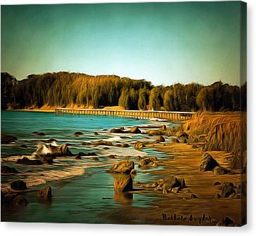San Simeon Pier 2 Canvas Print