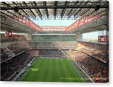 San Siro Stadium Canvas Print by Valentino Visentini
